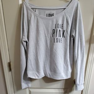 VS PINK off shoulder style sweater
